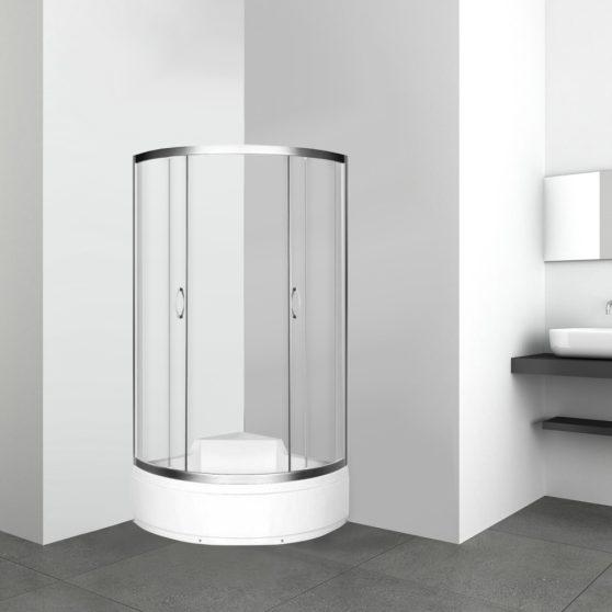Azalia 90 TR íves mélytálcás zuhanykabin