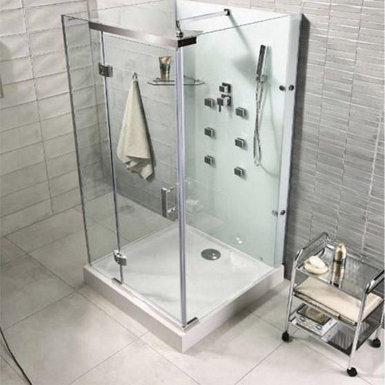 Bjorg 90x90 cm szögletes hidromasszázs zuhanykabin