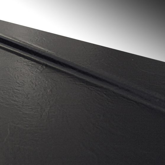 Cezar 80 szögletes fekete akril zuhanytálca