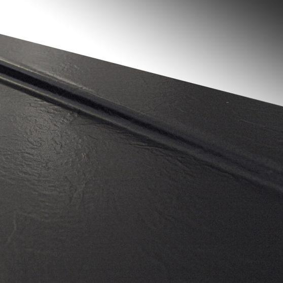Cezar 90 szögletes fekete akril zuhanytálca