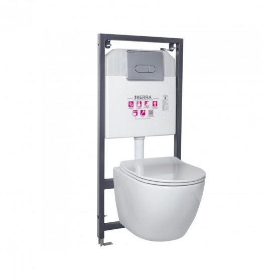 Delos Chrome falba építhető WC tartály szett
