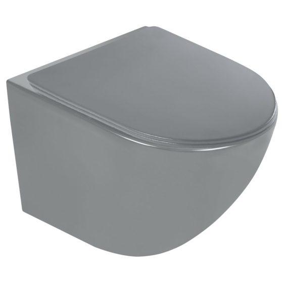 Delos GR fali rimless WC soft-close ülőkével
