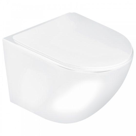 Delos WH fali rimless WC soft-close ülőkével