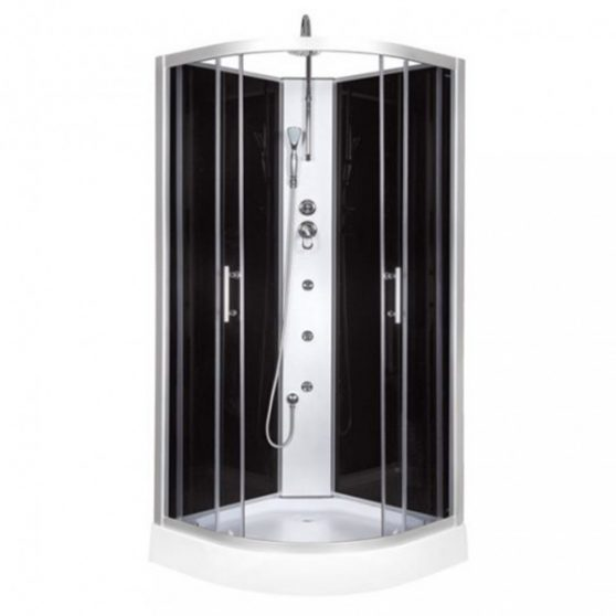 FARO 80x80 cm íves hidromasszázs zuhanykabin