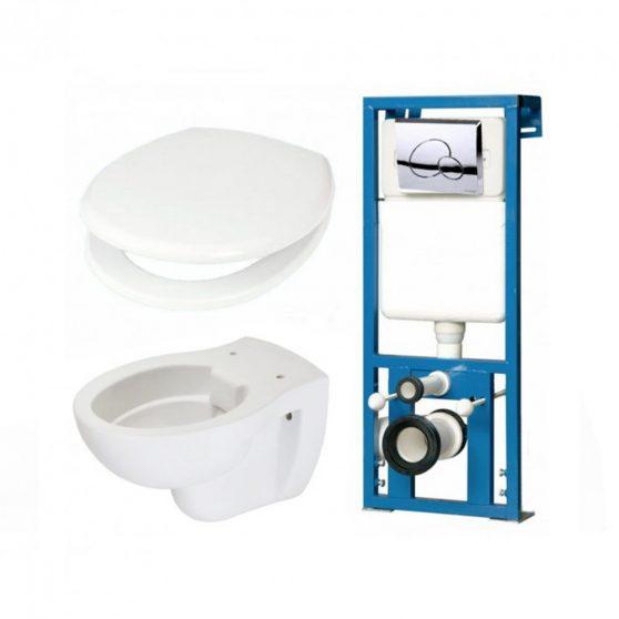 HERO-SET falba építhető WC tartály szettben HERO wc-vel