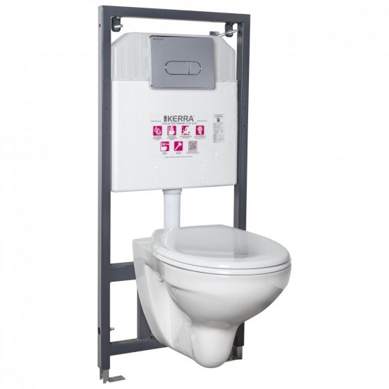 Julia Chrome falba építhető WC tartály szett