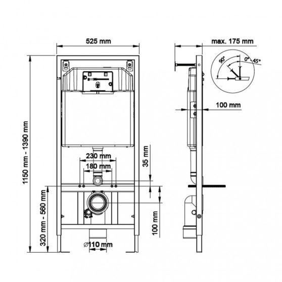K-50 Slim falba építhető wc tartály