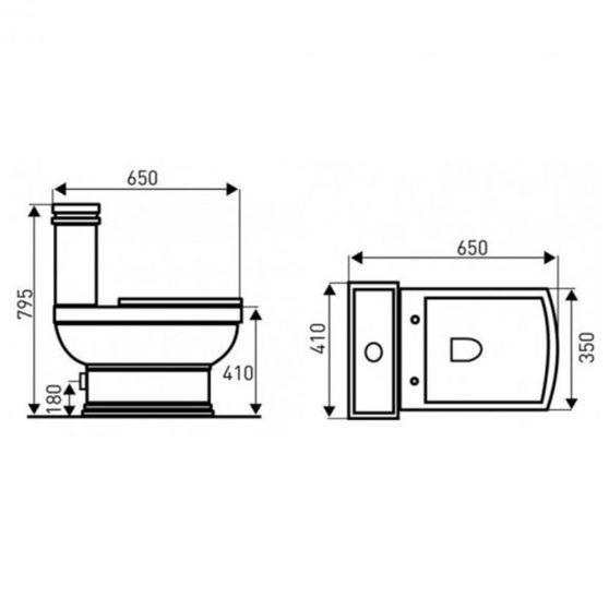 Kleopátra 11 hátsó kifolyású monoblokkos wc ülőkével