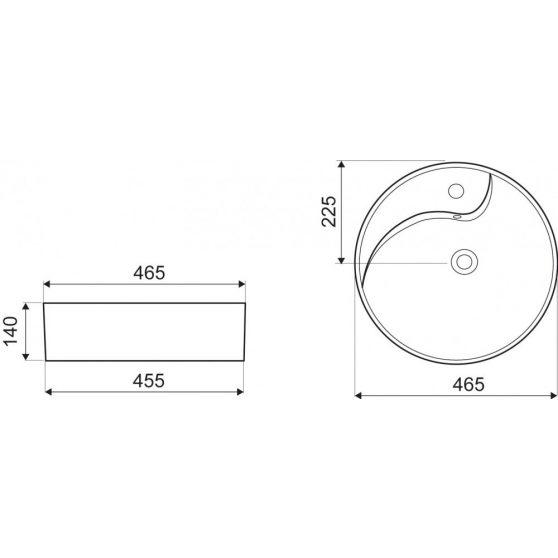 KR-09 kerámia design mosdó