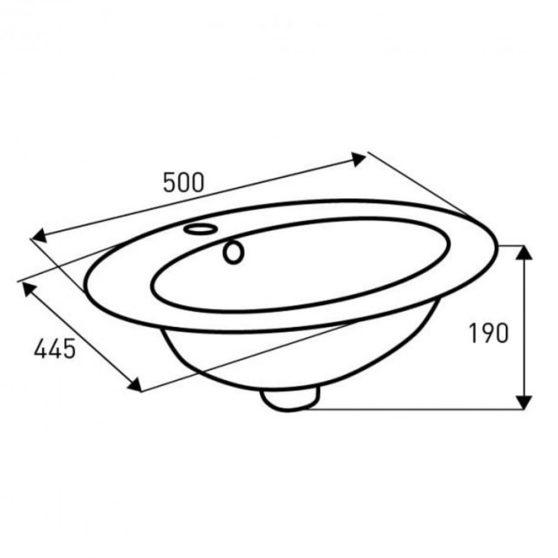 KR-132 kerámia design mosdó