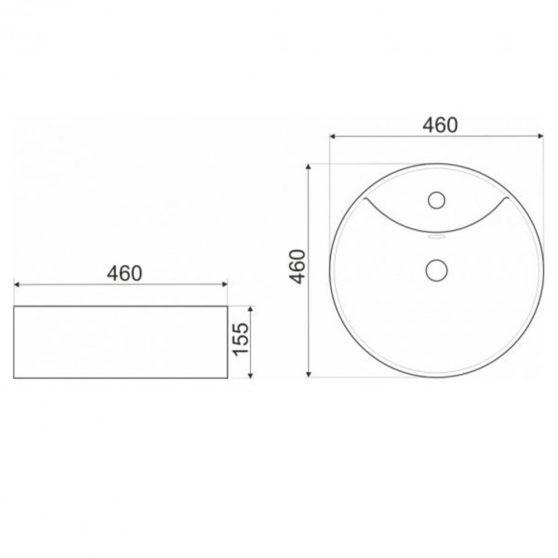 KR-138 kerámia design mosdó