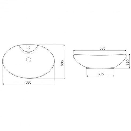 KR-139 kerámia design mosdó