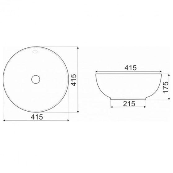 KR-157 kerámia design mosdó 41x17 cm