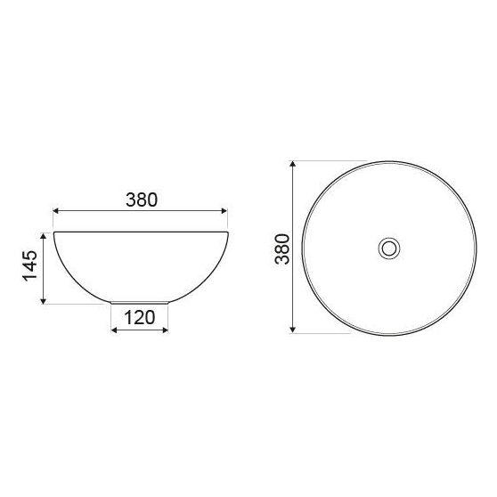 KR-301 kerámia design mosdó