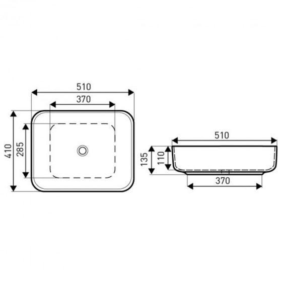 KR-384 kerámia design mosdó