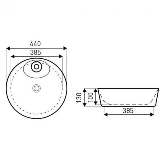 KR-390 kerámia design mosdó