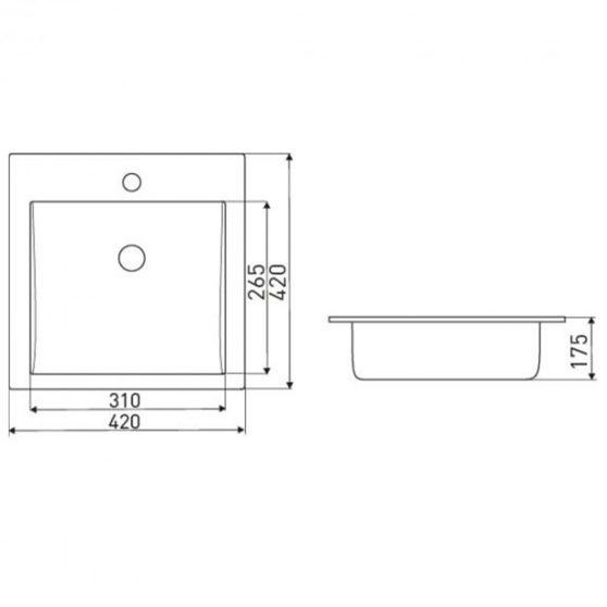 KR-41 kerámia design mosdó