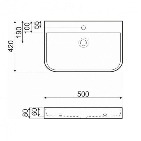 KR-43 kerámia design mosdó