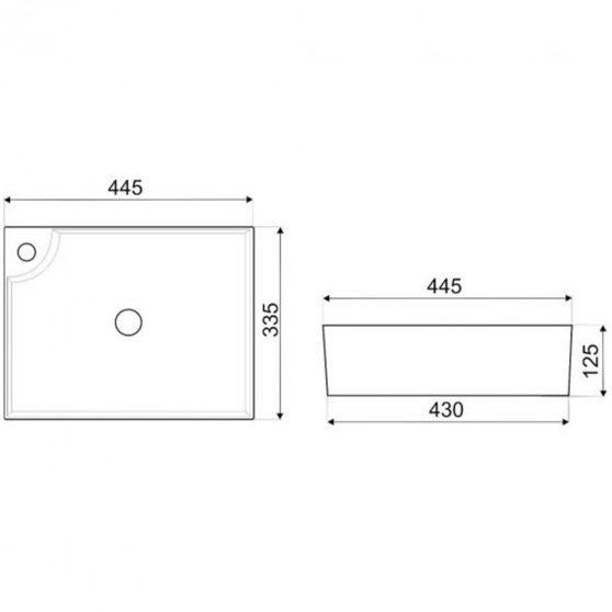 KR-44 kerámia design mosdó