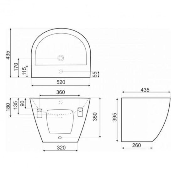 KR-45 kerámia design mosdó