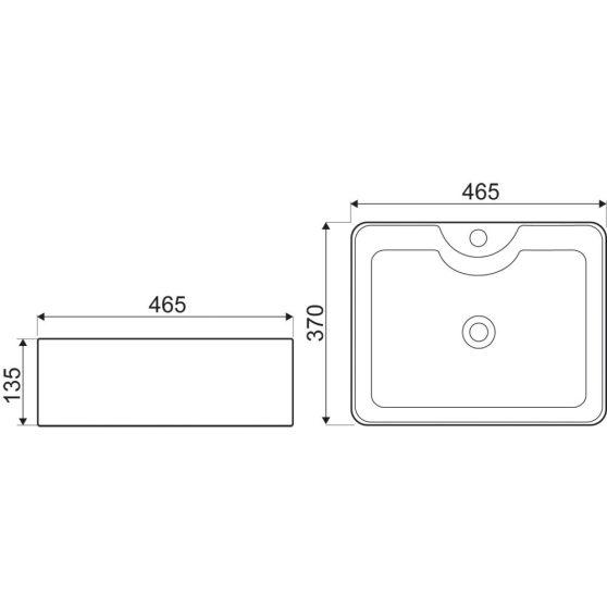 KR-51 kerámia design mosdó
