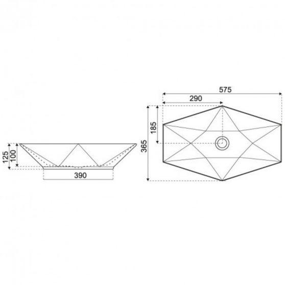 KR-570 kerámia design mosdó