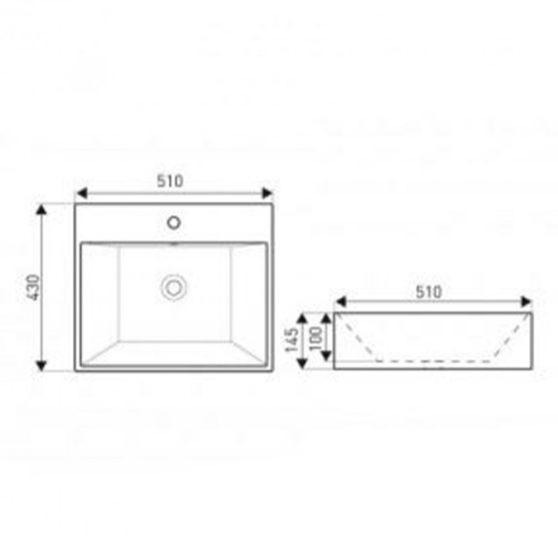 KR-702 kerámia design mosdó