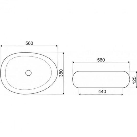 KR-70 kerámia design mosdó