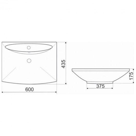 KR-721 design kerámia mosdó