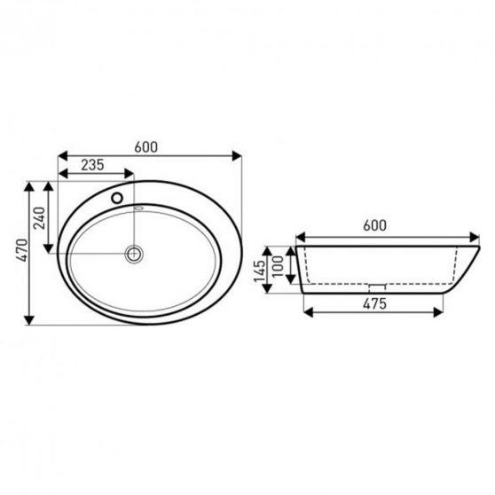 KR-726 kerámia design mosdó