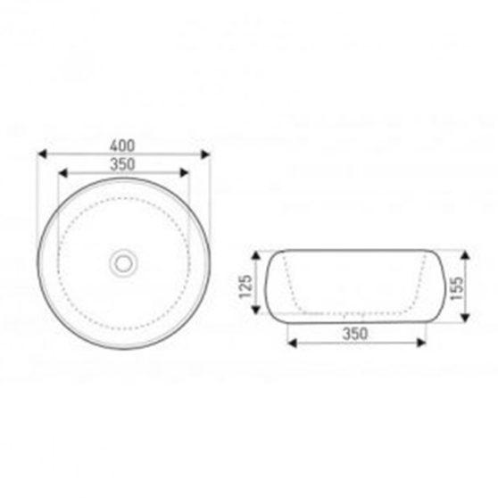 KR-802 kerámia design mosdó