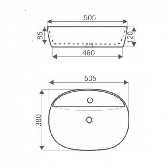 KR-860 kerámia design mosdó