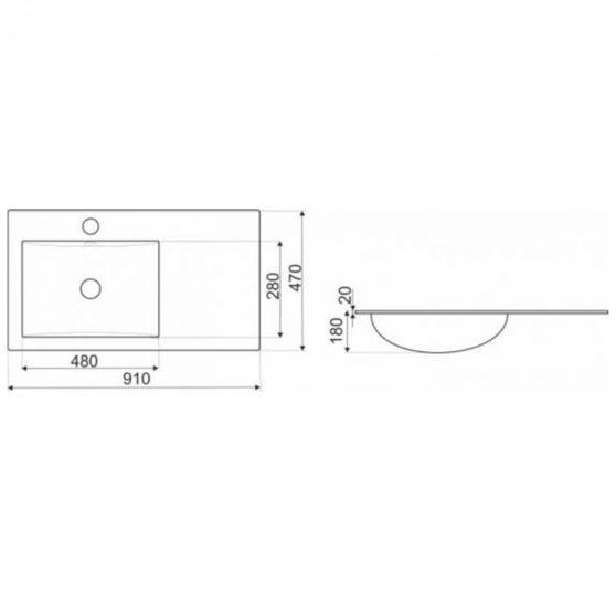 KR-90L kerámia design mosdó