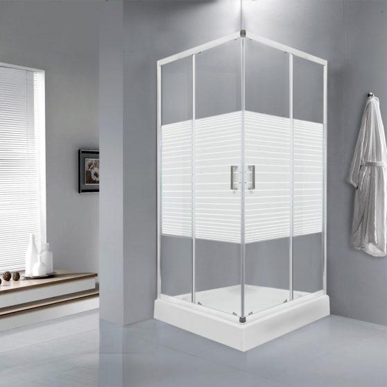 Madera 80x80 cm szögletes zuhanykabin zuhanytálcával