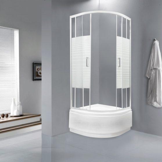 Madera 90x90 cm mélytálcás zuhanykabin