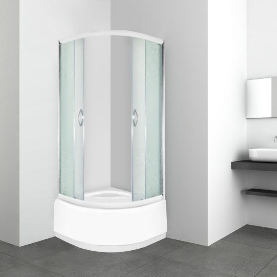 Malwa 90x90 cm mélytálcás zuhanykabin