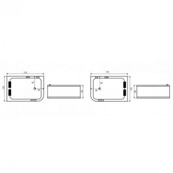 Marika Lux aszimmetrikus hidromasszázs kád 170x120 cm-es méretben, balos beépítéssel