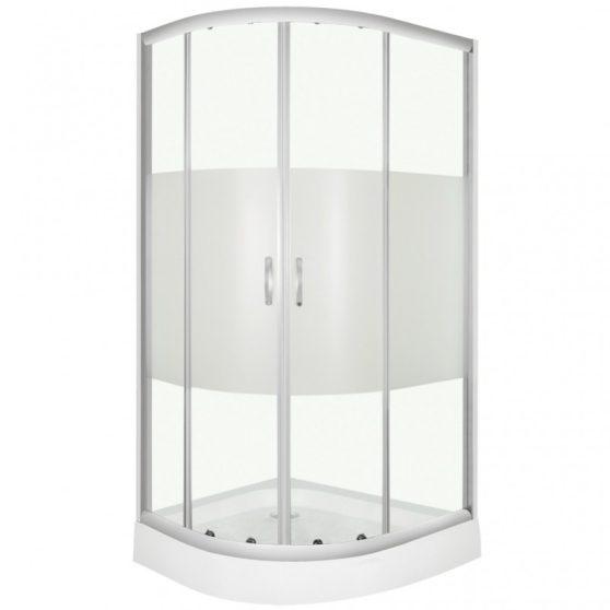 Memphis íves aszimmetrikus dupla tolóajtós zuhanykabin tálca nélkül zuhanytálca nélkül