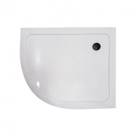Memphis aszimmetrikus íves zuhanytálca 100x80 cm