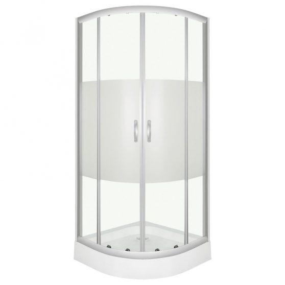 Memphis íves dupla tolóajtós zuhanykabin zuhanytálcával 5 mm biztonsági üveggel