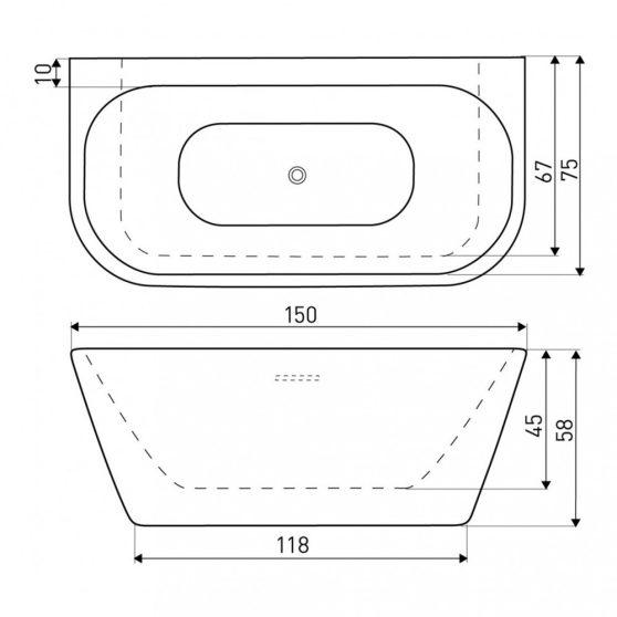 MONA egyenes fürdőkád