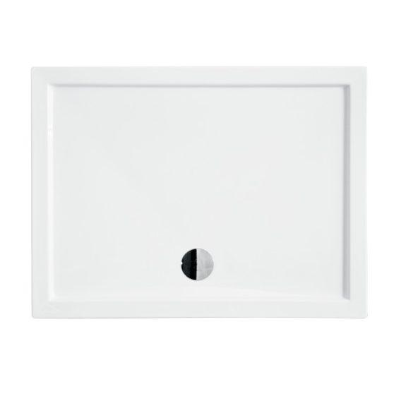 Oskar aszimmetrikus akril zuhanytálca - alacsony 120x80 cm
