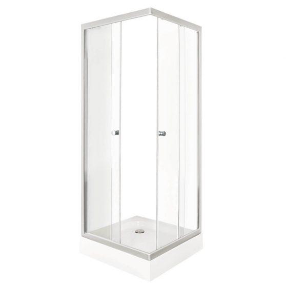 PICO CLEAR 80 szögletes zuhanykabin zuhanytálcával