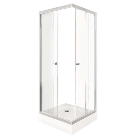 PICO CLEAR 90 szögletes zuhanykabin zuhanytálcával