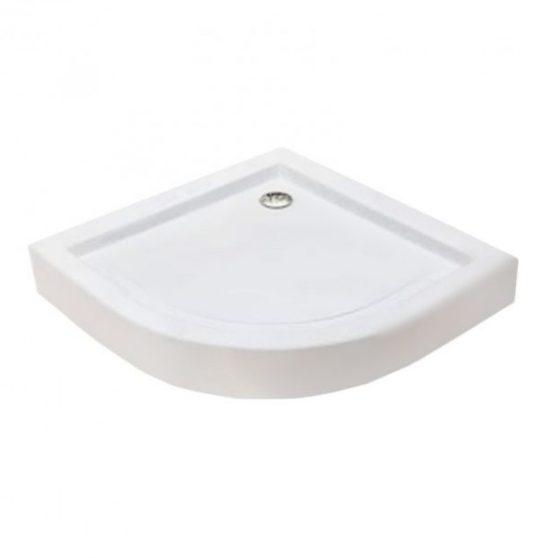 PRAGA íves akril zuhanytálca, 90x90x15 cm-es méretben