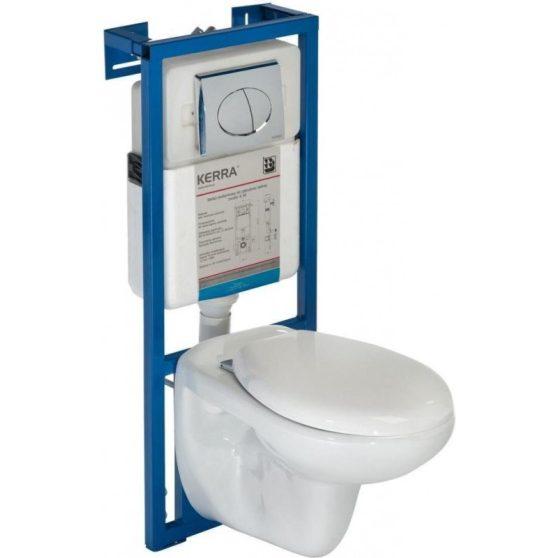 SIMPLE-SET falba építhető WC tartály szettben Simple wc-vel