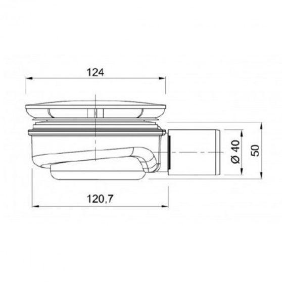 Speed 90 alacsony kialakítású zuhanytálca szifon