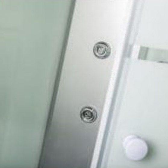 Strada 90x90 cm íves hidromasszázs zuhanykabin