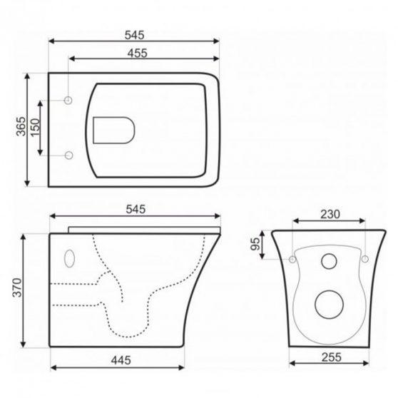 Sylvia 16 falra szerelhető wc soft close ülőkével