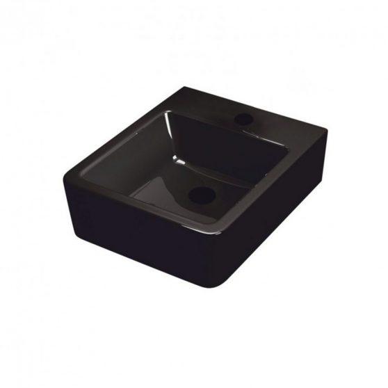 Thor 24 függeszthető mosdó, fekete színben 46x38 cm